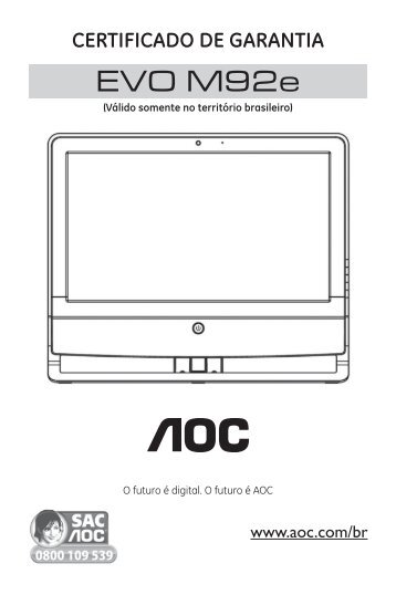 Certificado de Garantia - AOC