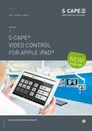 s·cape® video control for apple ipad® - Gheg.de