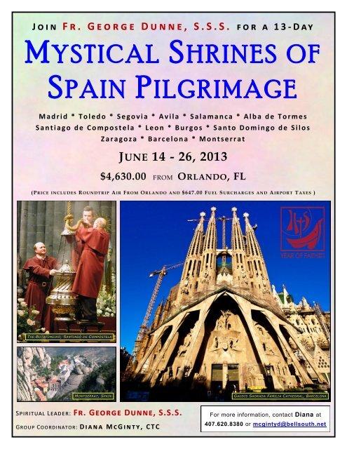 MYSTICAL SHRINES OF SPAIN PILGRIMAGE - 206 Tours