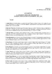 Act constitutiv - Consiliul Judeţean Gorj