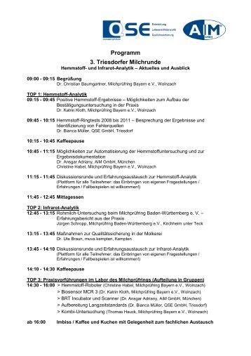 Programm 3. Triesdorfer Milchrunde