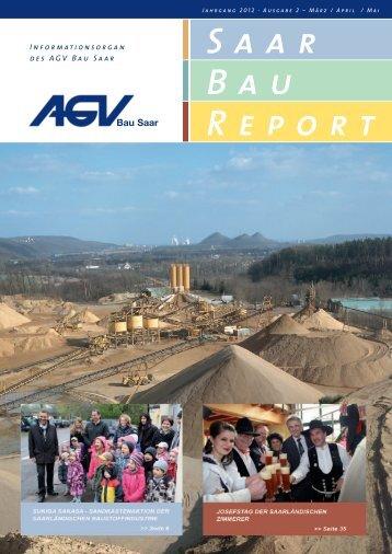 Saar Bau Report Nr. 2/2012 - AGV Bau Saar