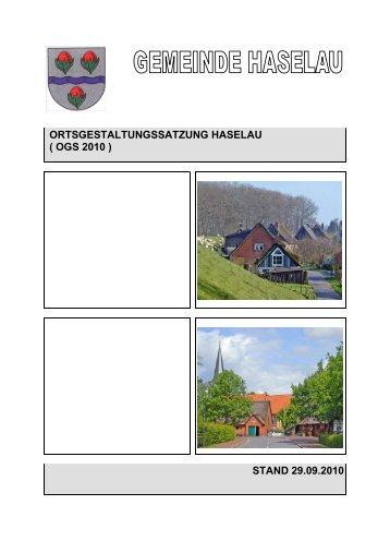 Ortsgestaltungssatzung der Gemeinde Haselau / Kreis Pinneberg