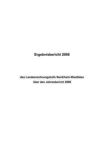 2008 - Landesrechnungshof des Landes Nordrhein-Westfalen (LRH ...