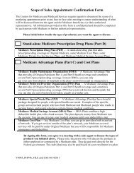 Scope of appointment - Providence Health Plan