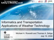 Information and transportation applications of weather technologies
