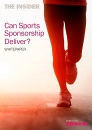 Can Sports Sponsorship Deliver? - MediaCom