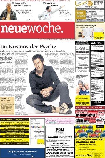 """Im Kosmos der Psyche """"Nuhr unter uns"""" - Heidenheimer Zeitung"""