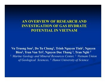 Overview on the Research and Investigation of Gas ... - CCOP