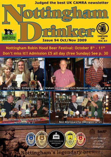 October 8th - Nottingham CAMRA