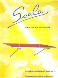 Scala Vordach - so individuell wie Ihre Vorstellungen - Chm-Markisen
