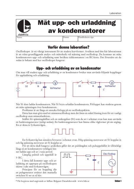 Hur du koppla in en kondensator
