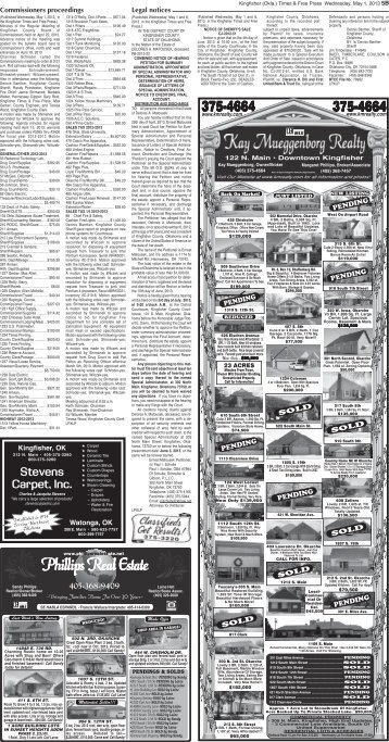 Section B Pages 5-8. - Kingfisher Times and Free Press