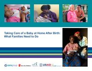 Taking Care of a Baby at Home After Birth - Healthy Newborn Network