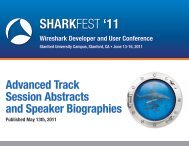 11 Advanced Track Session Abstracts and Speaker Biographies