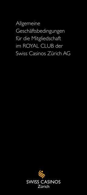 Allgemeine Geschäftsbedingungen (PDF) - Swiss Casinos
