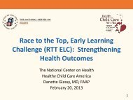 Race to the Top, Early Learning Challenge (RTT ELC ...