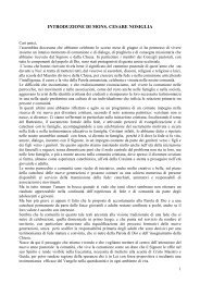 PROGRAMMA PASTORALE 2009-2010 Relazione di ... - Webdiocesi