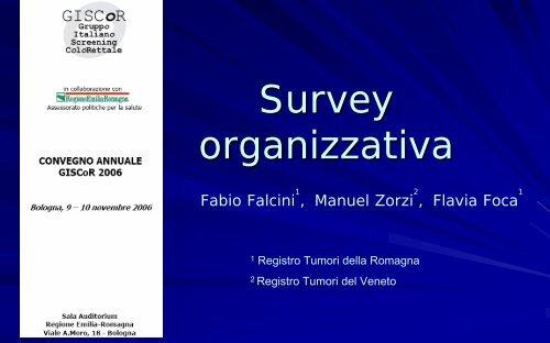 Survey organizzativa - GISCoR