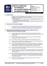 Code de conduite pour les entraîneurs, les conseillers d'équipe et ...