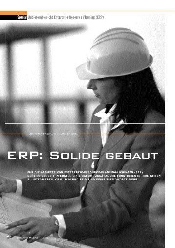 ERP: Solide gebaut - SoftSelect