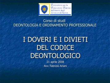 Doveri e Divieti - Fondazione Forense Firenze