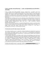 Citace a metody citování literatury – výtah z mezinárodních norem ...