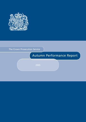Autumn Performance Report 2005 - Crown Prosecution Service
