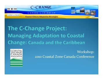 Workshop - C-Change | Coastal Climate Adaptation Strategies