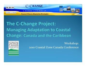 Workshop - C-Change | Coastal Climate Adaptation Strategies