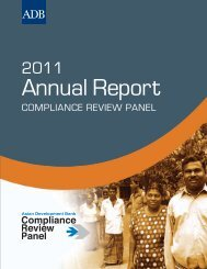2011 Annual Report - ADB Compliance Review Panel - Asian ...