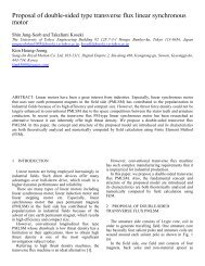 Proposal of double-sided type transverse flux linear synchronous ...