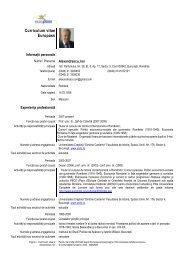 Curriculum vitae Europass - UCDC - Universitatea Crestina Dimitrie ...