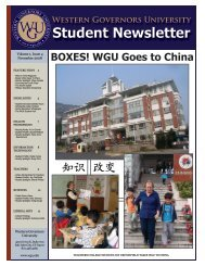 Student Newsletter - Western Governors University