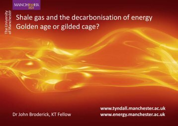 Shale gas and the decarbonisation of energy Golden age or gilded ...