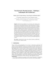 Towards Early Warning Systems - Ls6-informatik.uni-dortmund.de