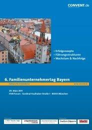 80333 münchen 6. Familienunternehmertag Bayern - Convent