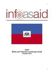 HAITI Media and Telecoms Landscape Guide - Infoasaid