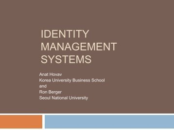 Identity Management Systems and Secured Access Control.