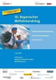 10. Bayerischer Mittelstandstag - Convent
