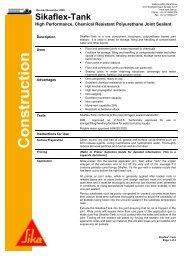 Sikaflex TANK Data Sheet - North West Sealants
