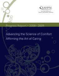 Progress Report • 2008–2009 - American Academy of Hospice and ...