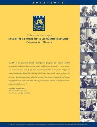 EXECUTIVE LEADERSHIP IN ACADEMIC MEDICINE® Program for ...