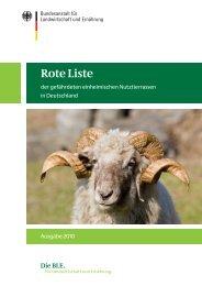 Rote Liste der gefährdeten einheimischen Nutztierrassen in - Genres