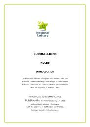 euromillions rules introduction - National Lottery