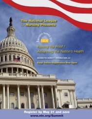 NLN Education Summit 2013 Brochure - National League for Nursing