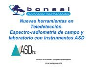 Bonsai Advanced Technologies S.L. Espectro-radiometría con ...