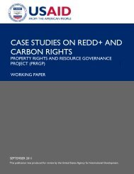 Case Studies on REDD+ and Carbon Rights Working Paper