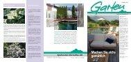 Die Gartenzeitung Frühling 2013 - Spaltenstein Gartenbau AG
