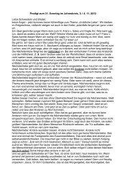Predigt zum 31. Sonntag im Jahreskreis, 3. / 4. 11. 2012 Liebe ...